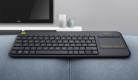 Logitech K400 Plus Tastiera Wireless con Touchpad – Nero