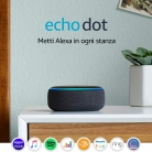 Echo Dot (3ª gen.) – Altoparlante intelligente Alexa Antracite