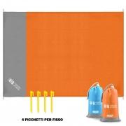 🏖Telo Spiaggia Antisabbia con Picchetti per Fissare – Arancione