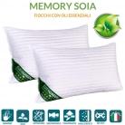 🌸Coppia Cuscini Letto in MEMORY FOAM e oli essenziali di SOIA BIO🌸