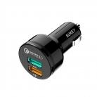 📲AUKEY Quick Charge 3.0 – Caricatore per Auto con 2 Porte USB