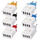 Caricabatterie colorato 4 Porta USB – Azzurro