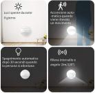 2 pezzi Luce Notturna a LED