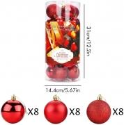 Palle per Albero di Natale – Rosso
