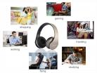 Cuffie Bluetooth 4.2 – Pieghevoli con Microfono
