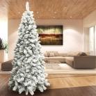 🎄BAKAJI Albero di Natale Innevato Bianco 210 cm