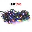 takestop® 200 LED MINILUCCIOLE COLORATE CONTROLLER 8 FUNZIONI