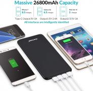 Power Bank 26800mAh – Caricatore Portatile USB C