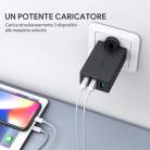 Caricatore da Muro con 3 Porte USB