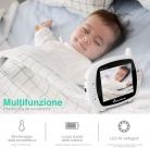 """Baby Monitor con schermo da 3.5 """" & 8 ninne nanne"""