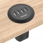 Simpeak Caricabatterie da tavolo a incasso 4 porte USB (30W)