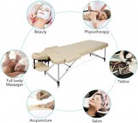 Lettino per massaggi pieghevole e regolabile
