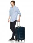 🎒Trolley rigido con rotelle girevoli – 68 cm Blu Marino