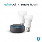 Echo Dot (3ª gen.) antracite + Lampadine intelligenti a LED Philips
