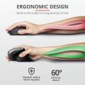 Trust Verro – Mouse wireless ergonomico Nero