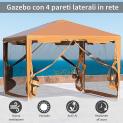 Tenda Gazebo da Giardino Pieghevole – 395x295cm