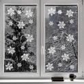 Kompanion Set da 100 Pezzi Vetrofanie di Natale a Forma di Fiocco di Neve
