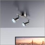 💡Faretti LED da soffitto orientabili 2 luci – include lampadine