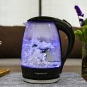 Bollitore in vetro con illuminazione a LED