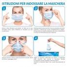 20x Maschere facciali monouso confezionate ermeticamente – (Rosa chiaro)