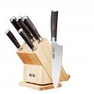 🔪Set di coltelli Chef professionali con blocco rotante in legno
