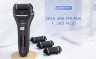 Pedicure Elettrico Professionale Ricaricabile + 4 Rulli di Ricambio