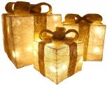Decorativi Cofanetti regalo LED – 3pz
