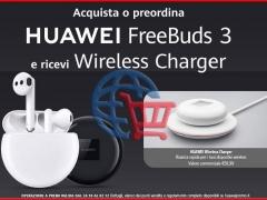 Huawei Freebuds 3 Auricolari + Regalo HUAWEI Wireless Charger