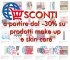 Sconti dal 30% su prodotti make up e skin care