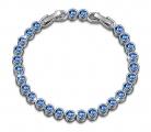 📿Bracciale Donna con Cristalli da Swarovski Blu